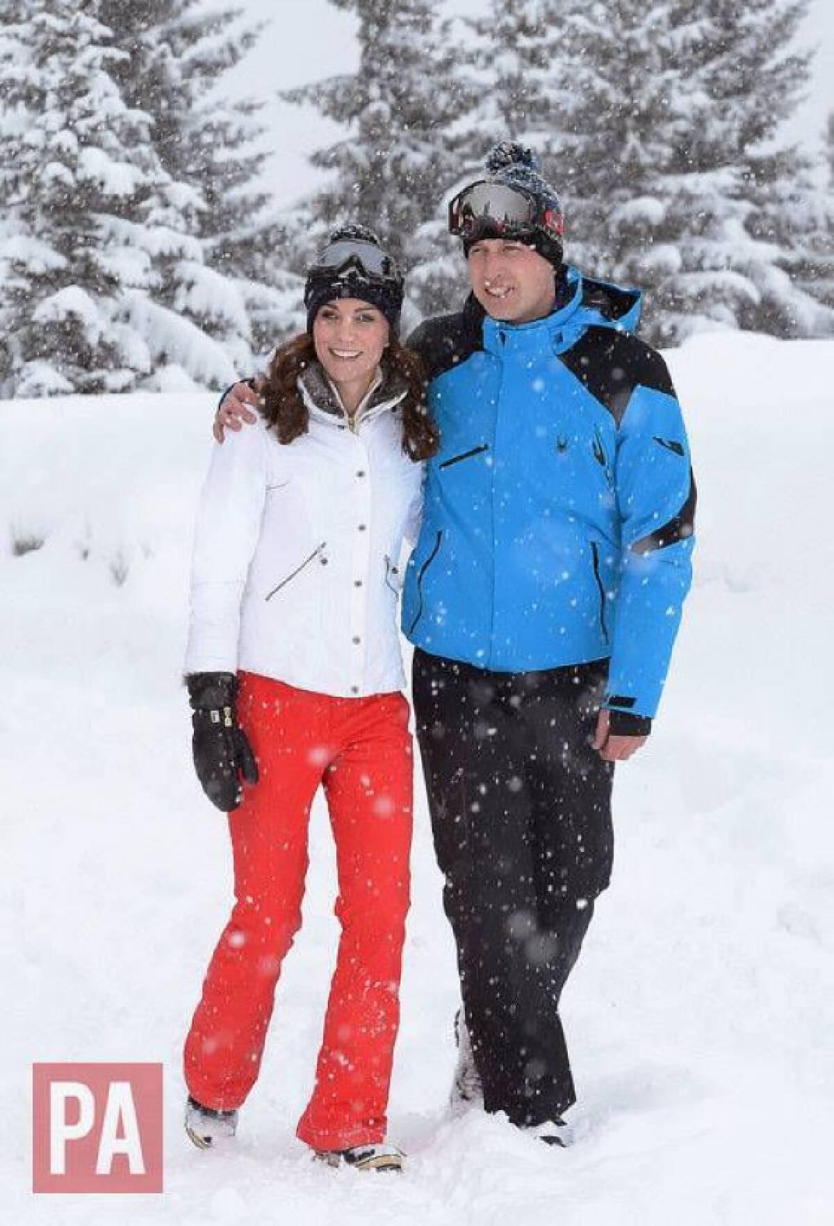 เจ้าชายวิลเลียมและครอบครัว ทรงเล่นสกี ที่เทือกเขาแอลป์