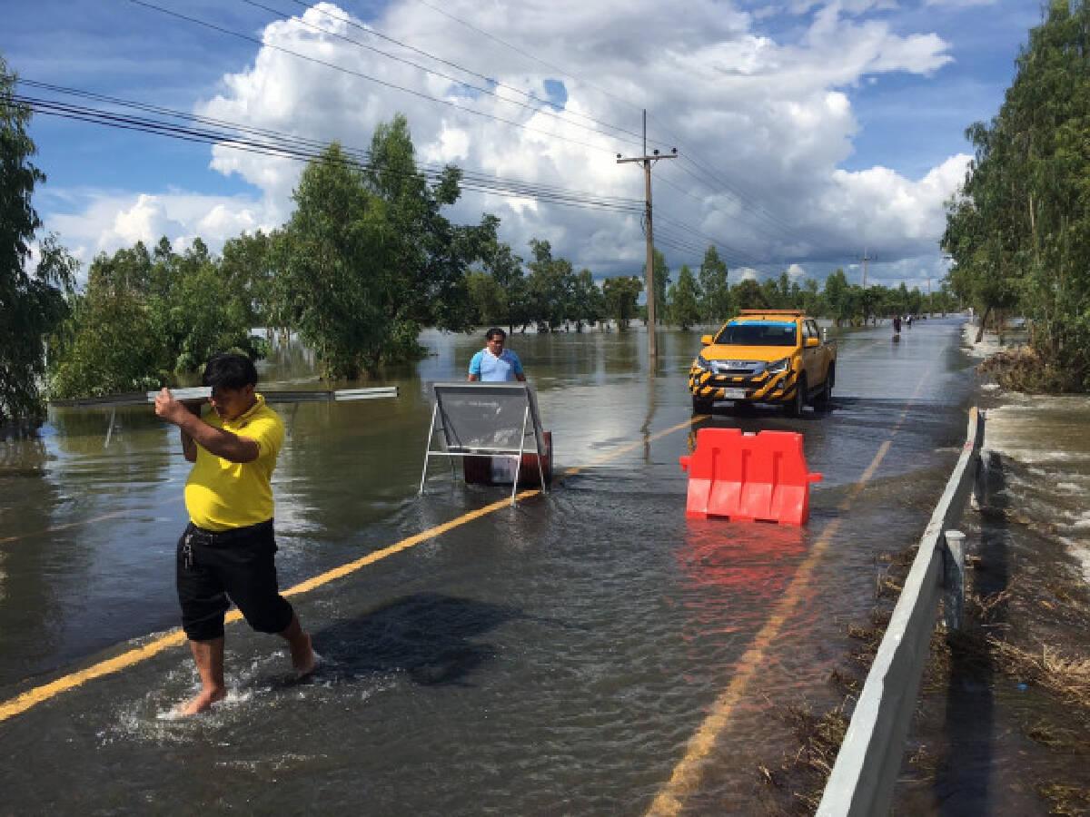 เช็คด่วน!..น้ำท่วม 3 จังหวัดอีสาน ถนน 36 สาย รถผ่านไม่ได้