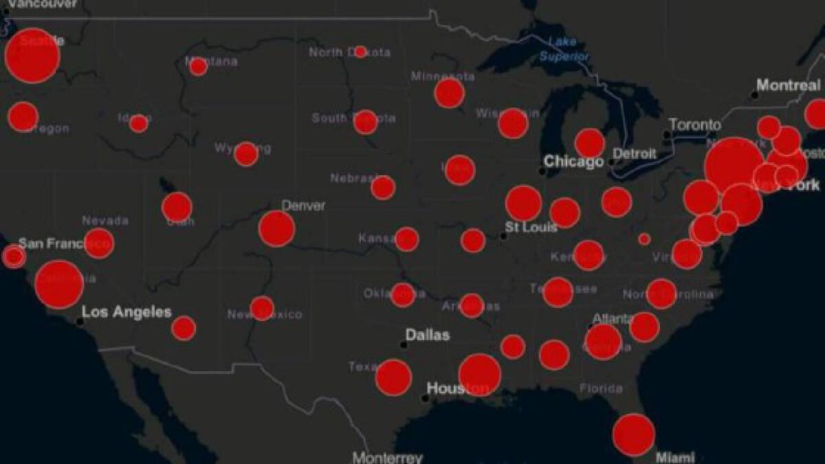 สหรัฐขึ้นอันดับ 1 ของโลก ติดเชื้อไวรัสโควิด-19 มากที่สุด