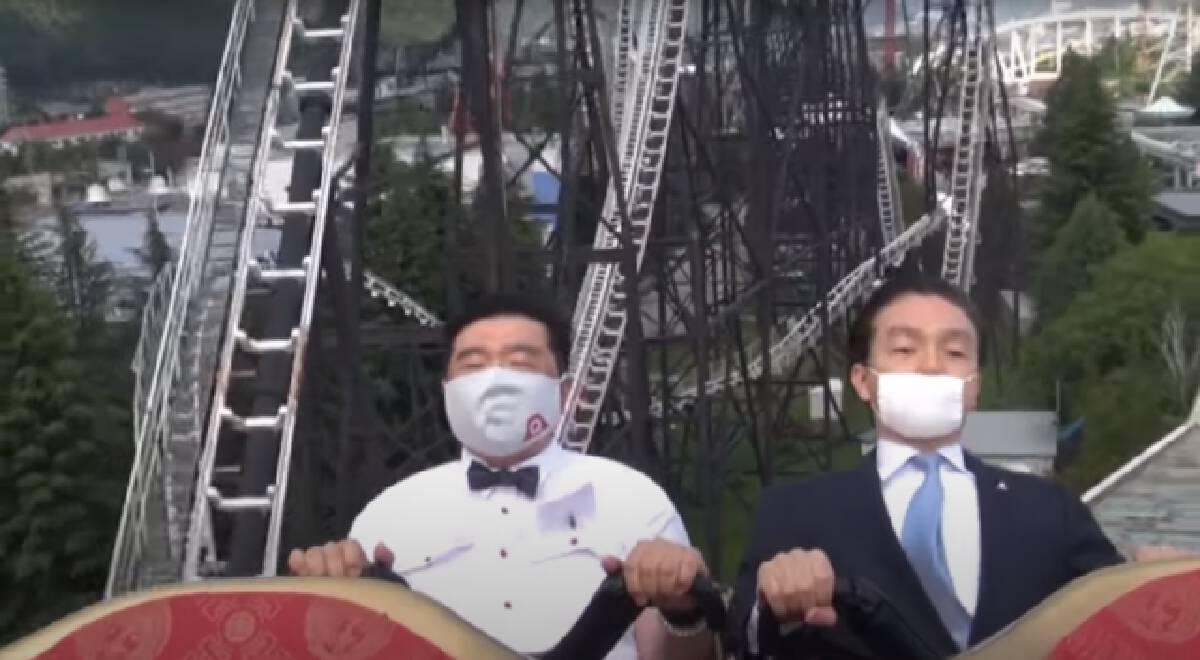 """""""ห้ามกรี้ด"""" สวนสนุกญี่ปุ่นสาธิตนิวนอร์มอลยุคโควิด-19"""