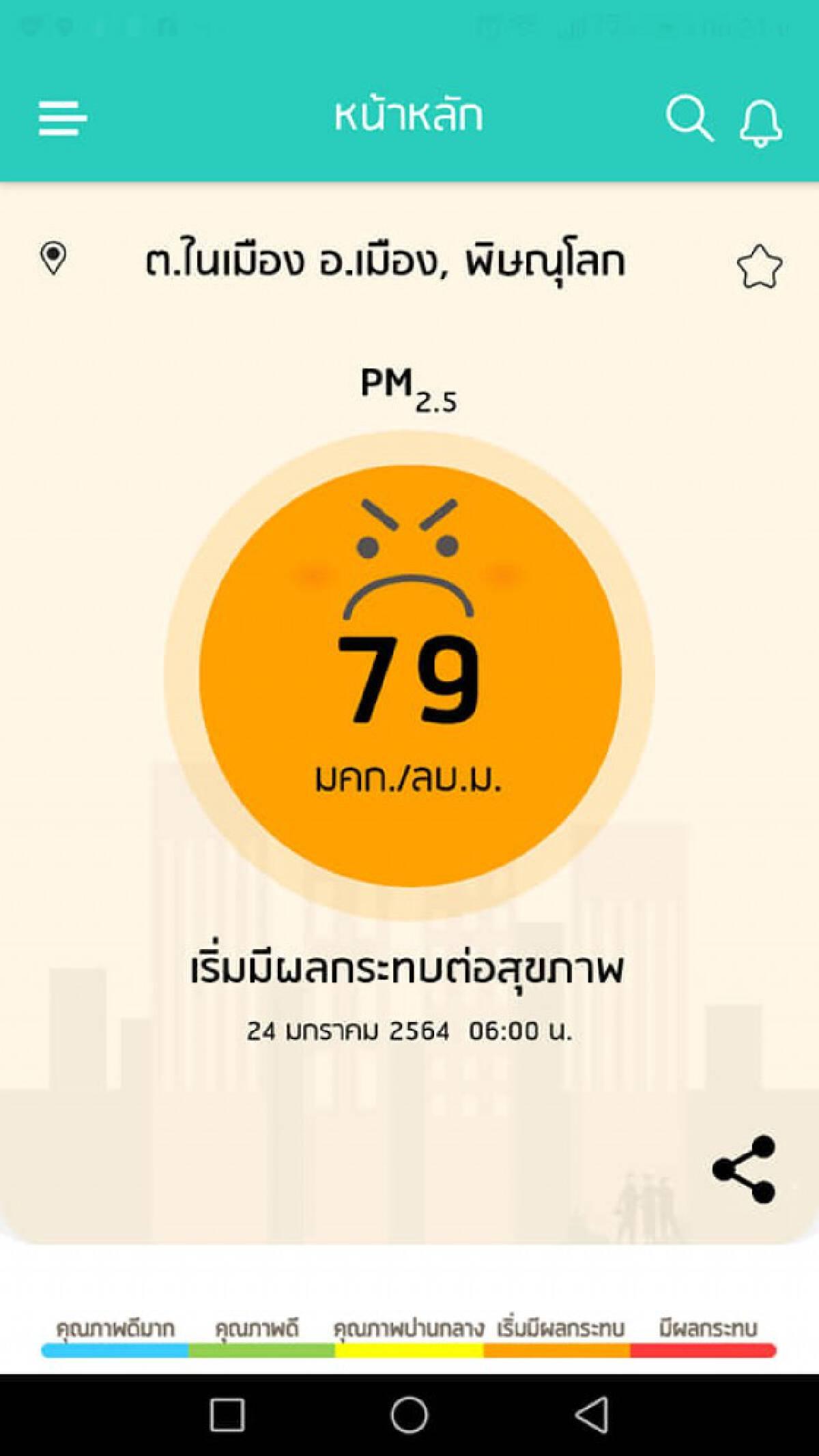 ผู้ว่าฯพิษณุโลกวอนหยุดเผา-ลด PM2.5