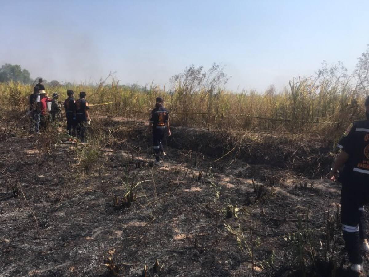 สลดเผาตอฟางลามไร่อ้อยพ่อเฒ่าลุยช่วยดับถูกไฟคลอกเสียชีวิต