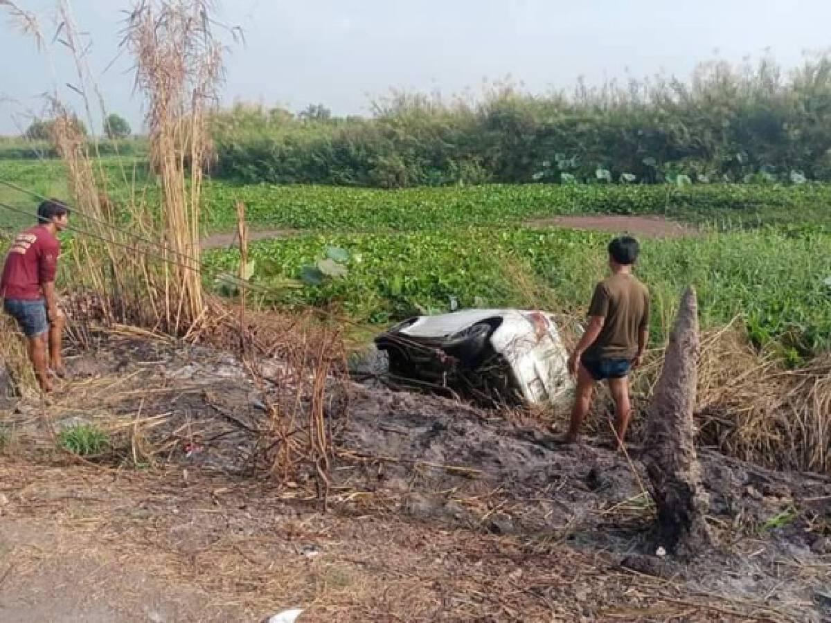 2 ฮีโร่ช่วยชีวิตสาวขับรถเก๋งตกถนนจมน้ำ7ชม. รอดตายปาฏิหาริย์