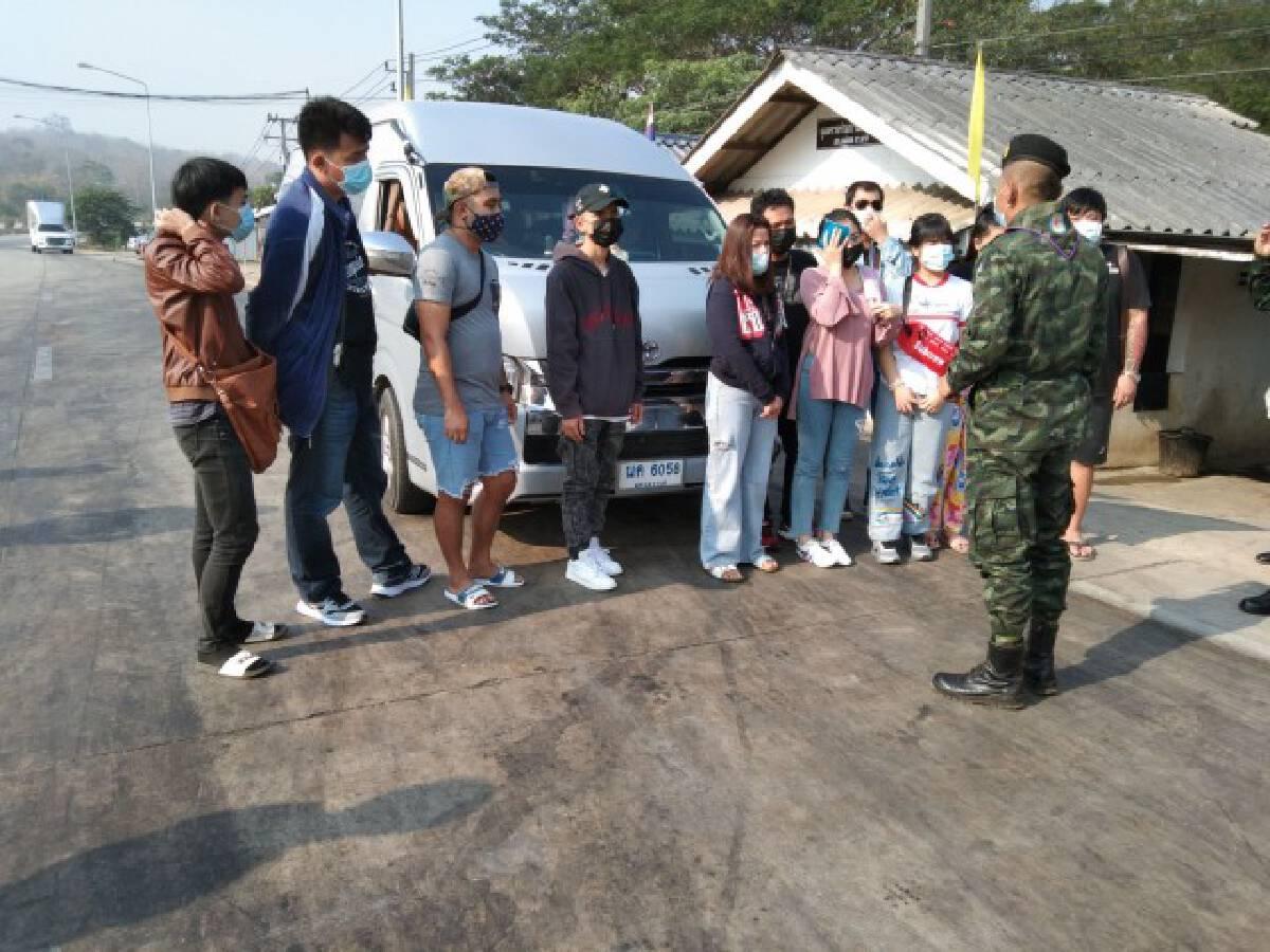 รวบ11คนไทยลอบข้ามจากฝั่งพม่า