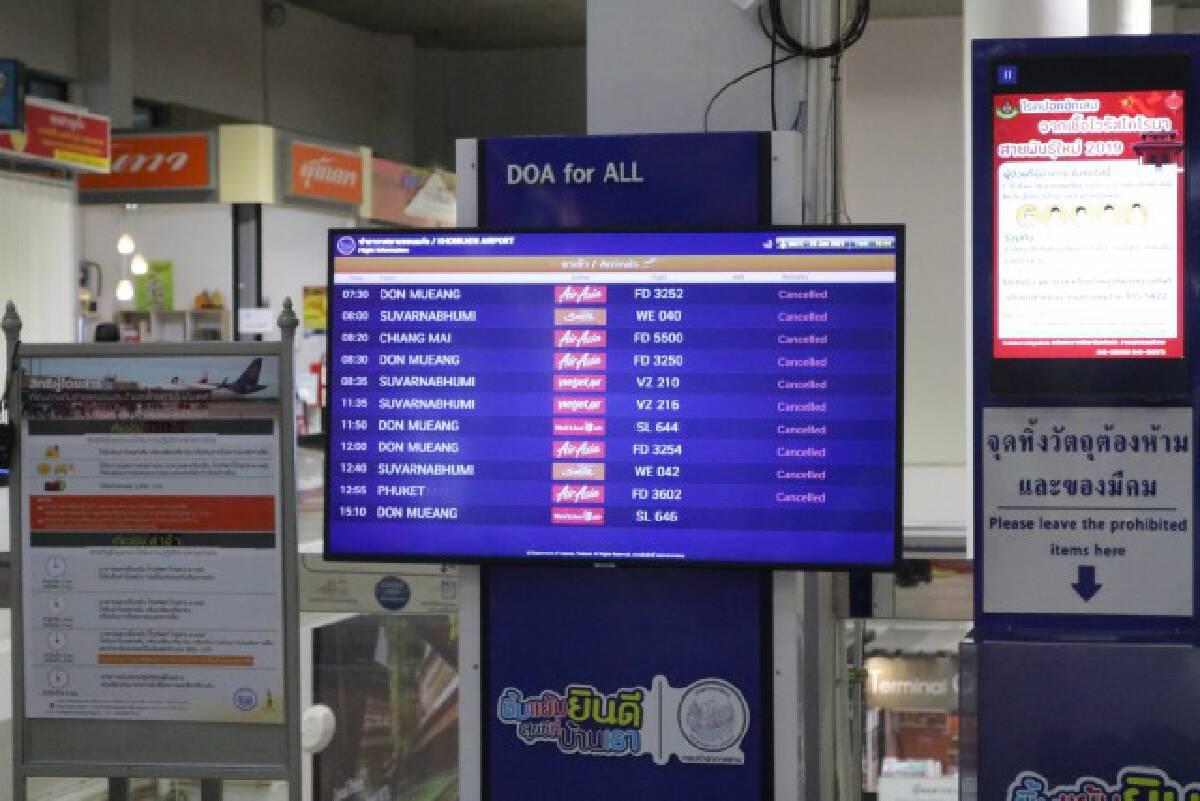 สนามบินโชว์เครื่องวัดอุณหภูมิอัตโนมัติพร้อมรับการเดินทาง