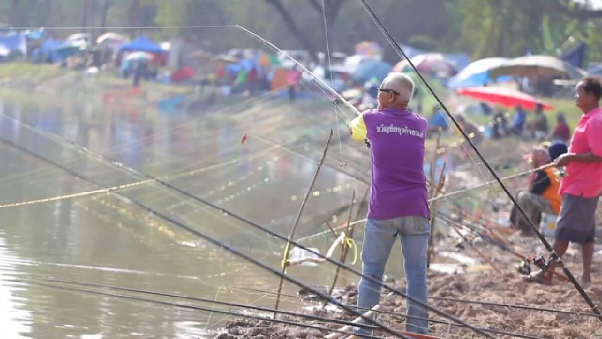 แหล่งน้ำบึงบัวจัดเทศกาลตกปลาคึกคัก
