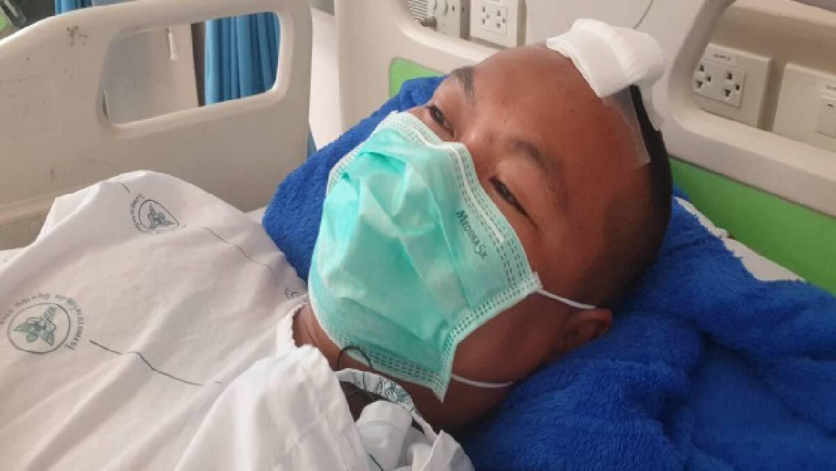 ส่งดาบตำรวจเหยื่อแก๊งยาบ้าผ่าตัดอีกรอบหลังรอดตายปาฏิหารย์