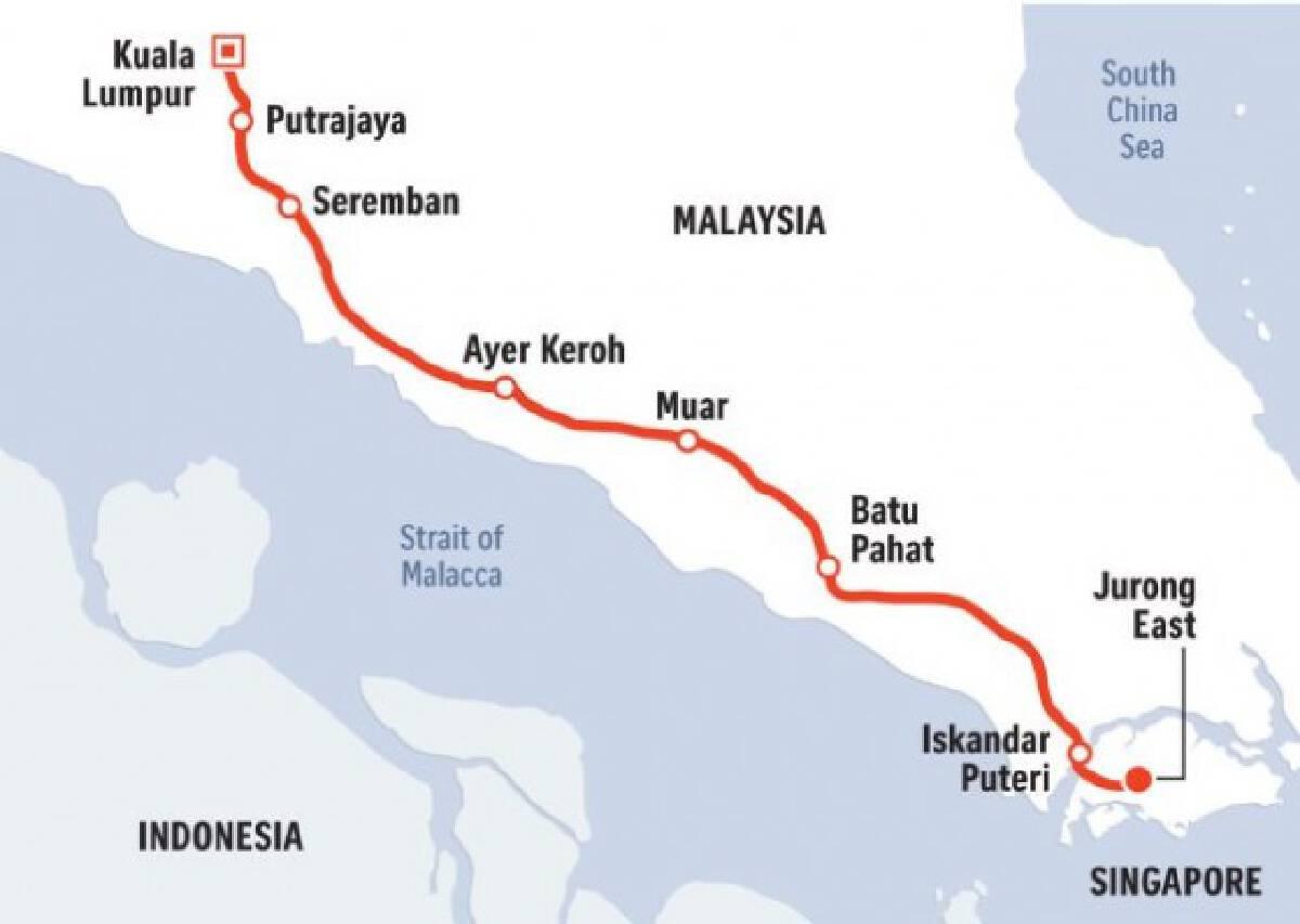 มาเลเซียจ่ายสิงคโปร์2,380ล้านบาท ชดใช้ล้มรถไฟความเร็วสูง