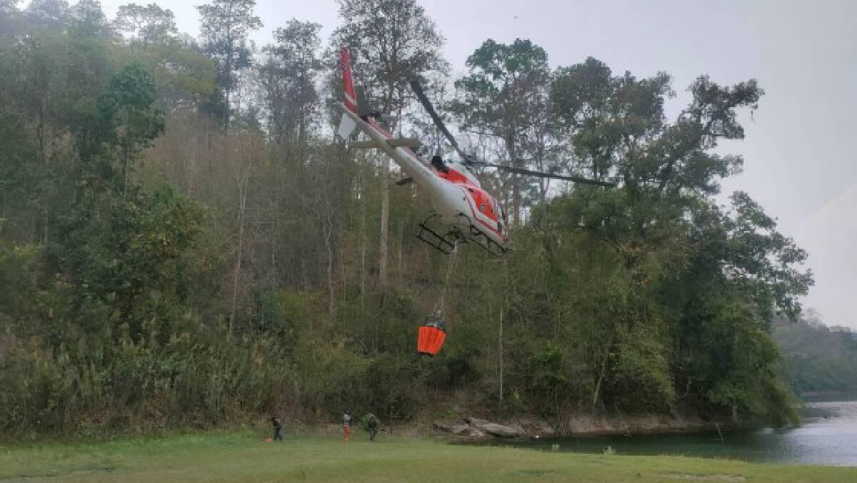 รองแม่ทัพภาคที่ 3 ส่งอากาศยานดับไฟป่าสะเมิง