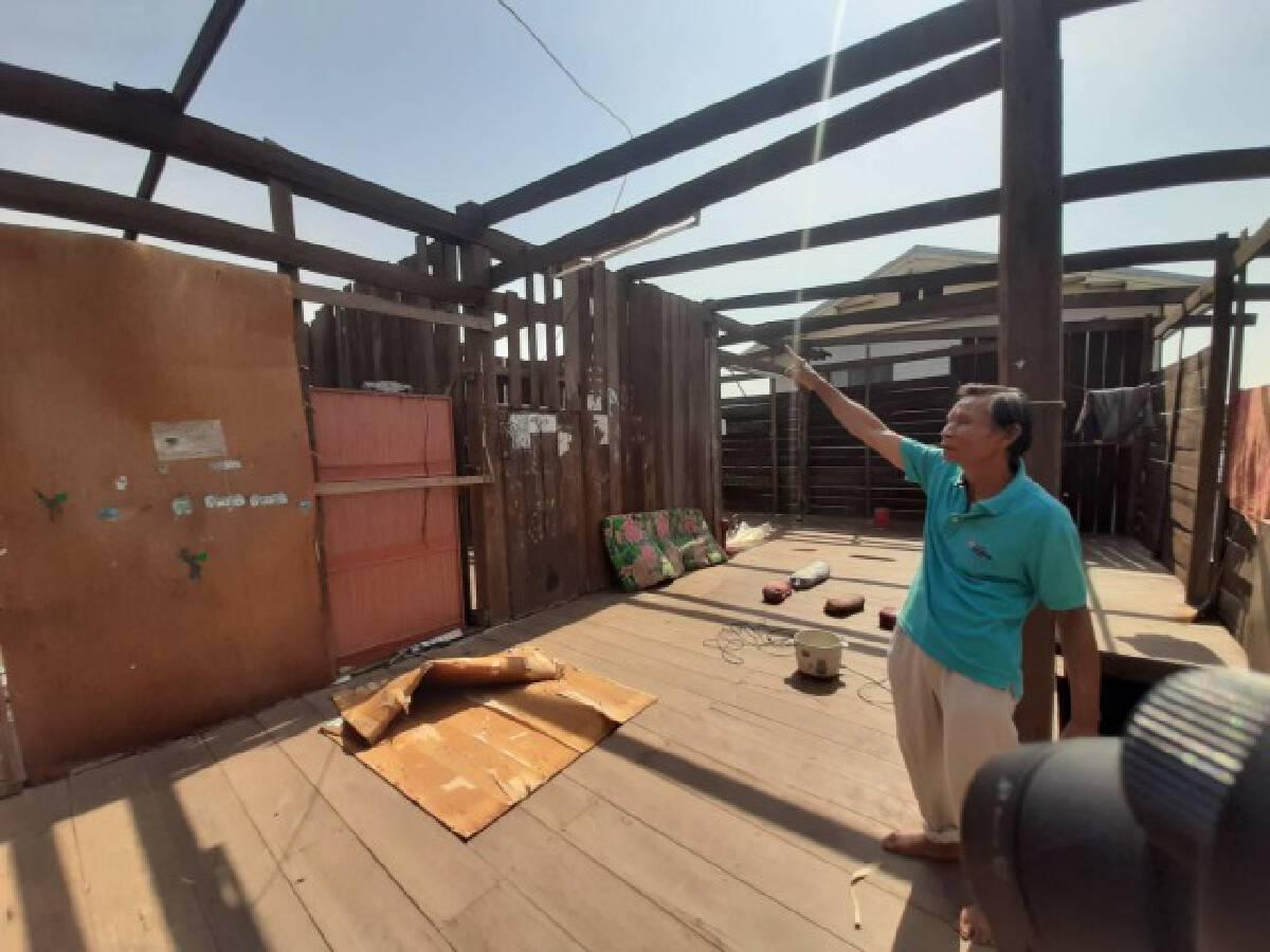 พายุฤดูร้อนถล่ม 4 หมู่บ้าน ในอำเภอเสิงสาง บ้านเรือนเสียหายกว่า 30 หลังคาเรือน
