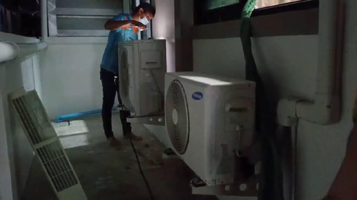 โคราชอากาศร้อนทะลุ40องศาฯชาวบ้านแห่ติดตั้งแอร์