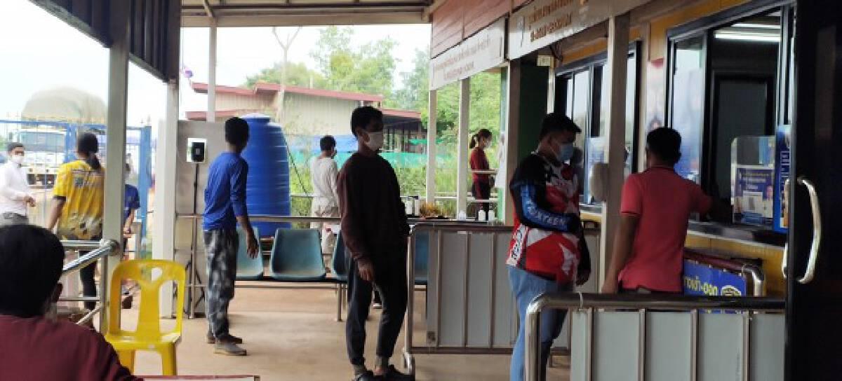 จนท.ตรวจเข้มโควิด19ชายแดนไทยเขมรด่านถาวรช่องสะงำ