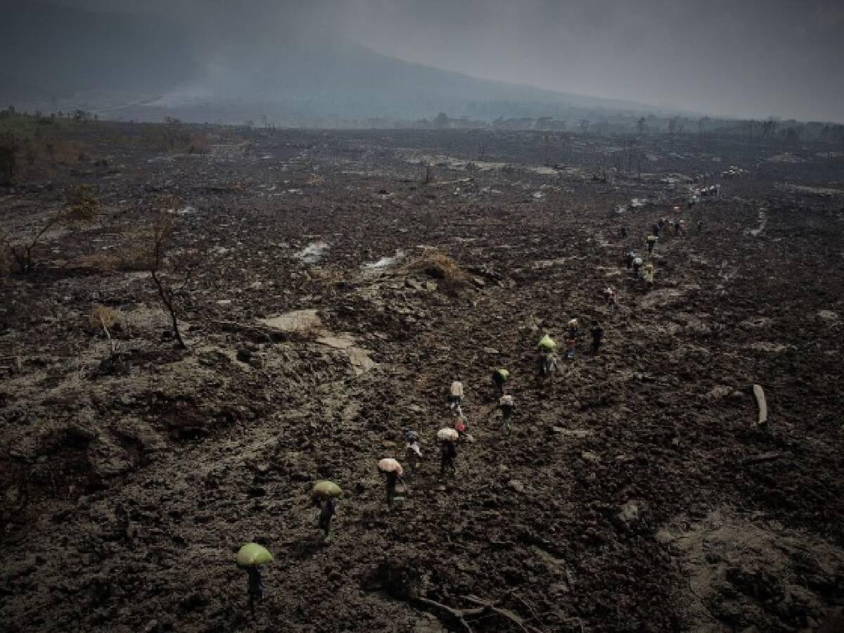 ชาวคองโกอพยพอีกครั้งหลังมีคำเตือนภูเขาไฟระเบิดรอบ 2
