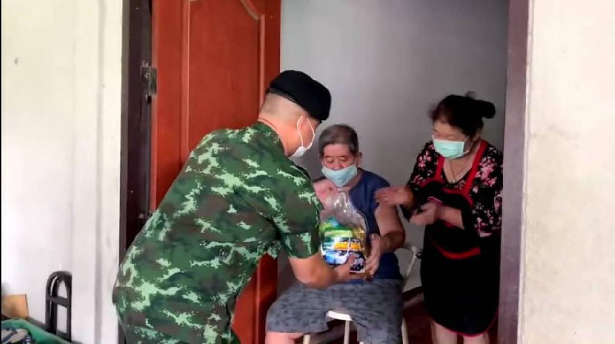 Army Delivery ทหารซิ่งแจกถุงปันสุข