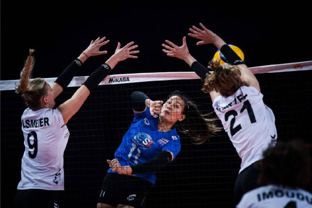 วอลเลย์สาวไทย สุดยอด!! คว้าชัยนัดแรกเหนือเยอรมนี 3-1 เซตศึกVNL