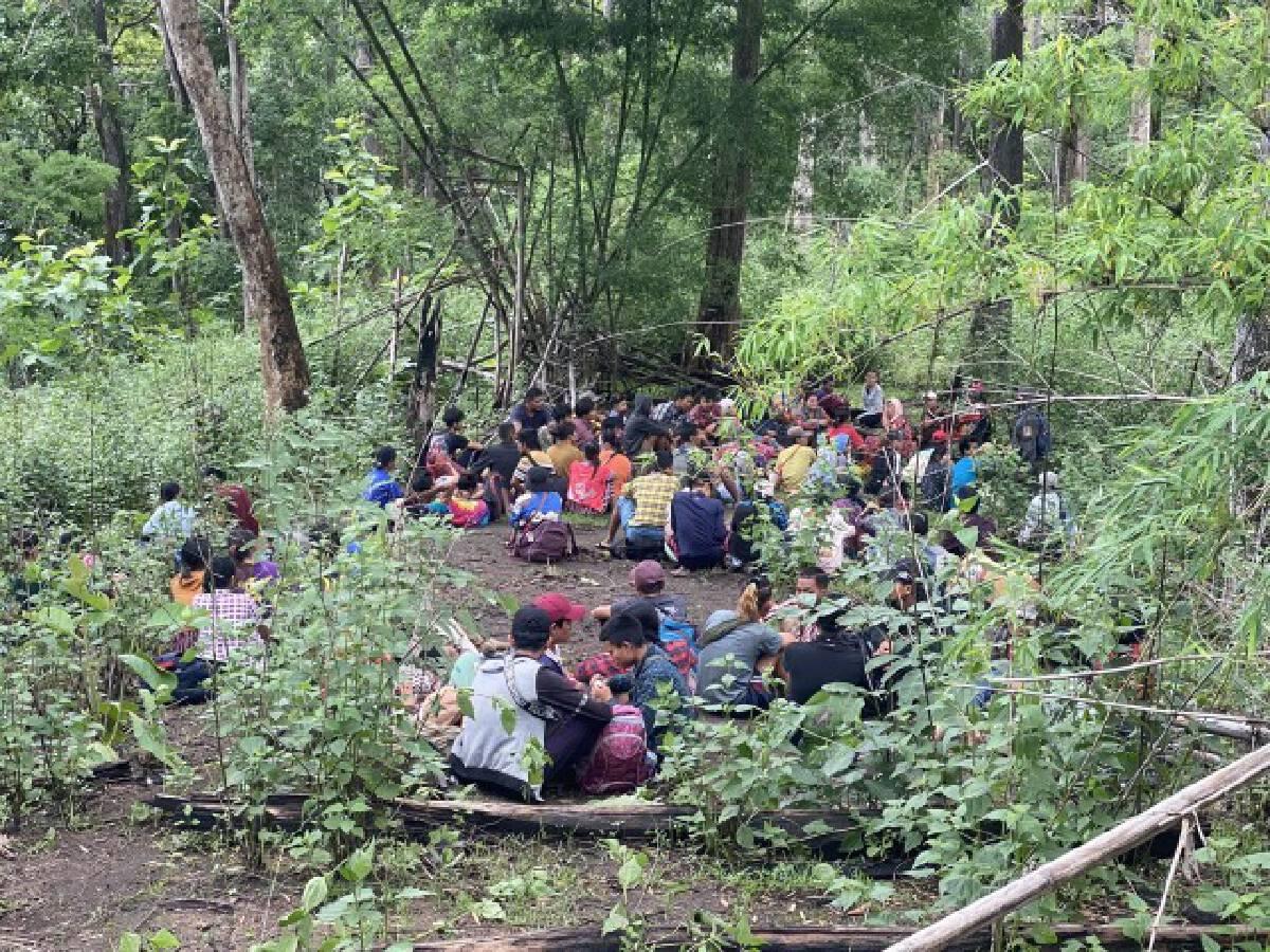 จับ87ชาวพม่าในป่า-อดข้าว2วัน