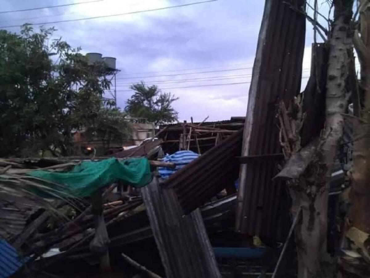 พายุกระหน่ำไม่ทันตั้งตัวเสียหาย12หลังคาเรือน