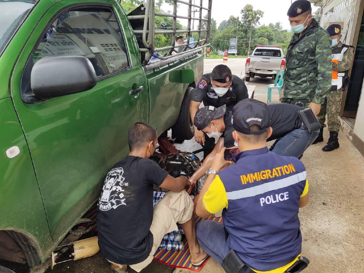 สนธิกำลังจับกุมยาบ้า 144,000 เม็ด ซุกซ่อนในถังน้ำมันรถยนต์