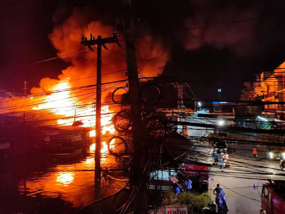 เพลิงไหม้ตลาดบ้านแพ้ว