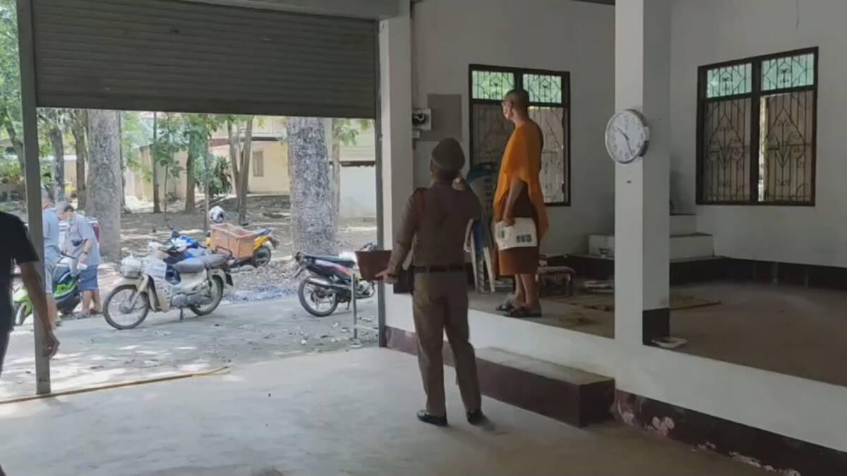 ชาวบ้านสาปแช่งโจรย่องลักตัดสายไฟฟ้าศาลาพักศพข้างเมรุในวัด