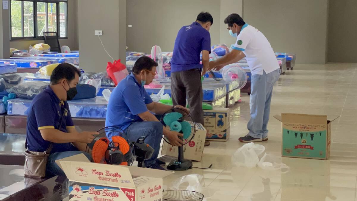 อบจ.หนองคายเร่งมือสร้างโรงพยาบาลแห่งที่สนาม 3 รับผู้ป่วยขอกลับบ้าน