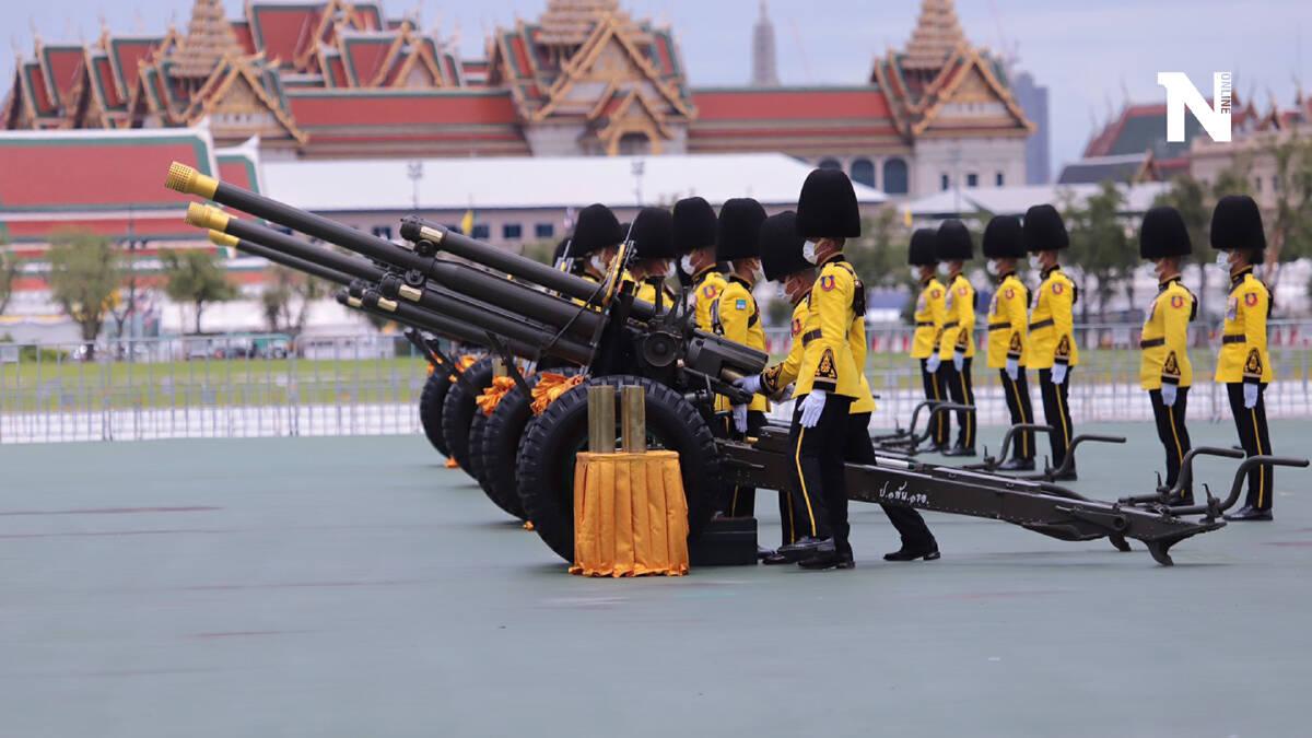 3 เหล่าทัพ ยิงสลุตหลวง 21 นัด เฉลิมพระเกียรติพระบาทสมเด็จพระเจ้าอยู่หัว
