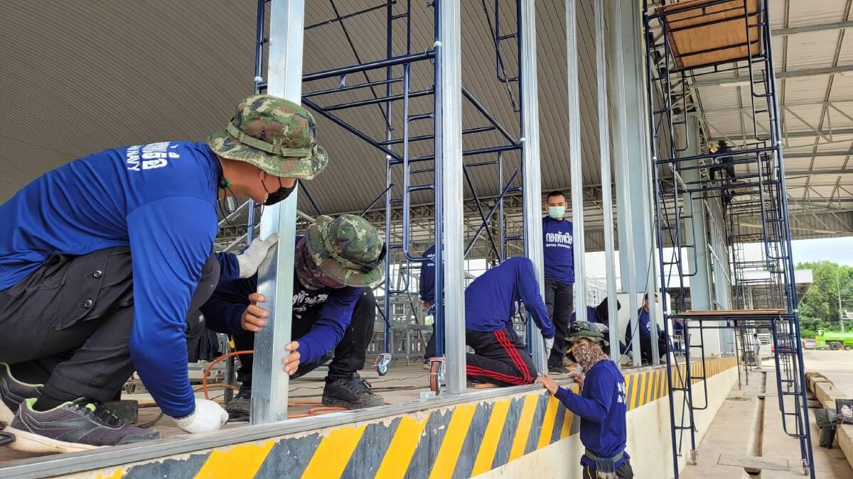 กองทัพบกและกองทัพเรือ เร่งสร้างโรงพยาบาลสนาม