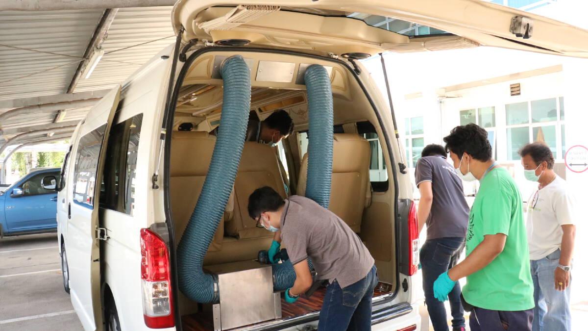 ฮุก 31 โคราช จับมือสถาบันแสงซินโครตรอน สร้างรถตู้โดยสารความดันลบ