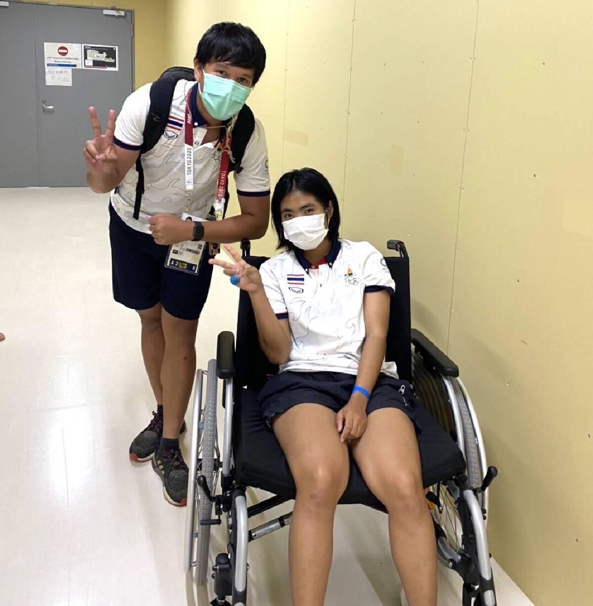 """""""ฟ้า"""" เจ็บข้อเท้าจากอุบัติเหตุระหว่างซ้อม ก่อนลงแข่งโอลิมปิกแค่2วัน"""