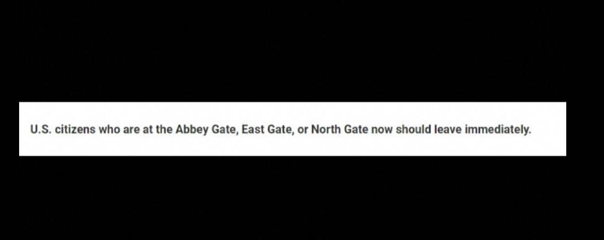 สถานทูตสหรัฐประกาศเตือนคนอเมริกัน อย่าไปสนามบินคาบูลตอนนี้