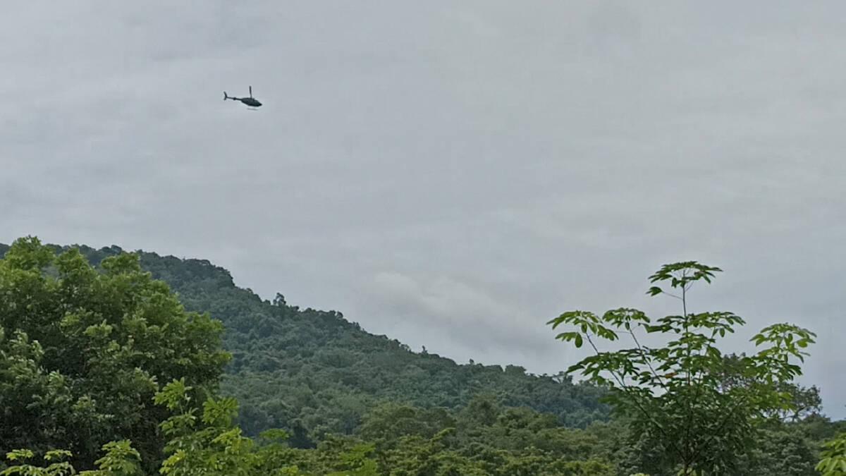 นำเฮลิคอปเตอร์กองกำลังสุรศักดิ์มนตรีช่วยบินค้นหาตาวัย 80 ปี