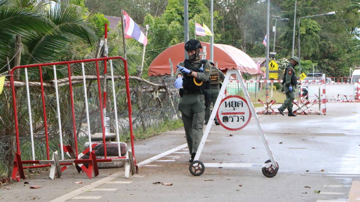 คนร้ายป่วนไม่เลิกขว้างระเบิดใส่ฐานทหารที่ อ.ระแงะ