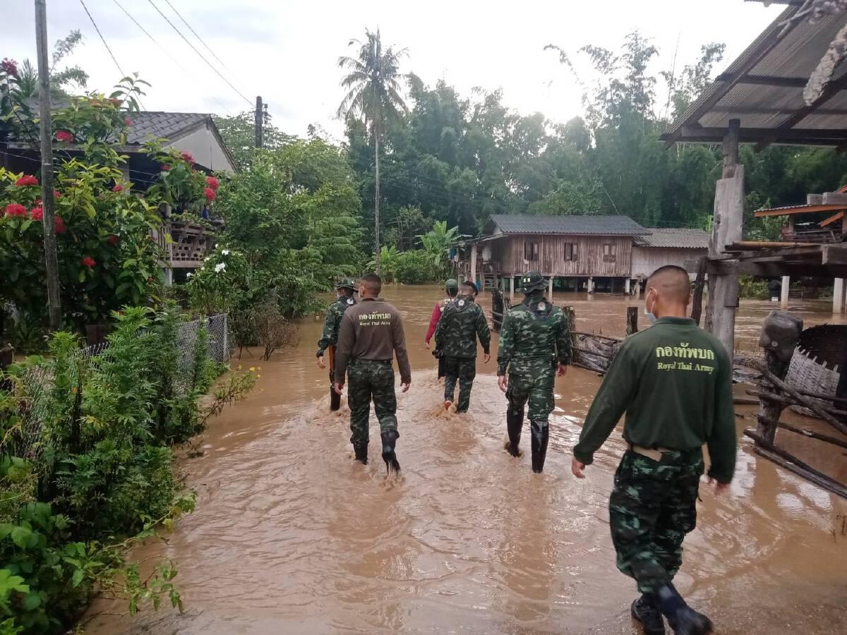 อุ้มผาง น้ำท่วมฉับพลัน ทหารและฝ่ายปกครองท้องที่เร่งช่วยเหลือ