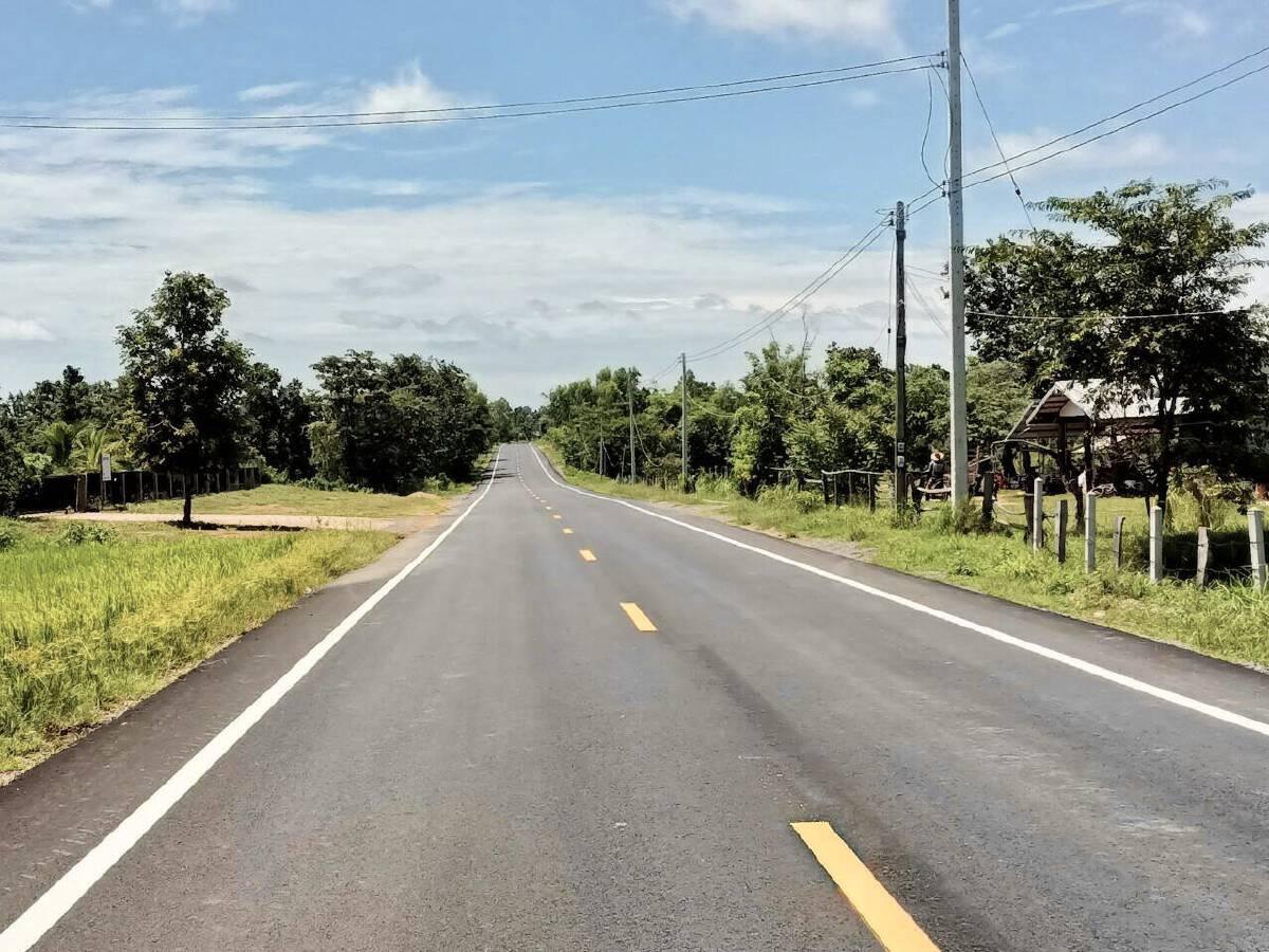 ทางหลวงชนบทปรับปรุงถนน 3025 อุบลฯ แล้วเสร็จ
