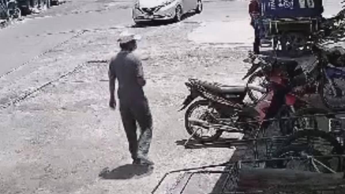 ตำรวจอุดรโพสต์คลิปโจรยุคโควิดเดินเลาะขโมยจยย.เสียบกุญแจไว้