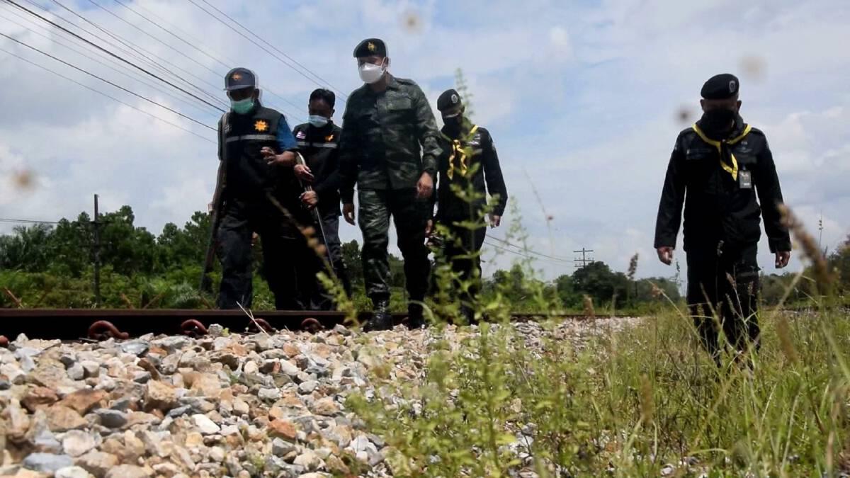 คุมตัวผู้ต้องสงสัยระเบิดรถไฟสอบสวน ผุดมาตรการรปภ.เส้นทางรถไฟเข้ม