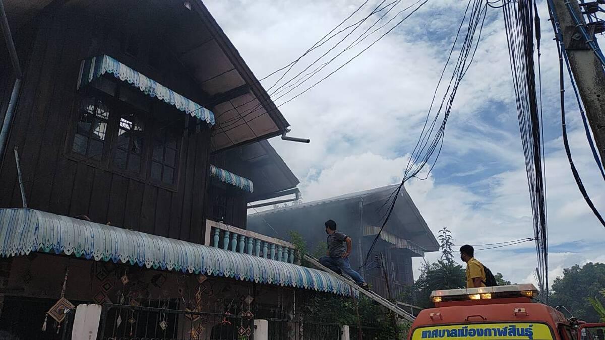 ไฟไหม้บ้านในชุมชนหนองลิ้นจี่หวิดวอดทั้งหลังคาดไฟฟ้าลัดวงจร