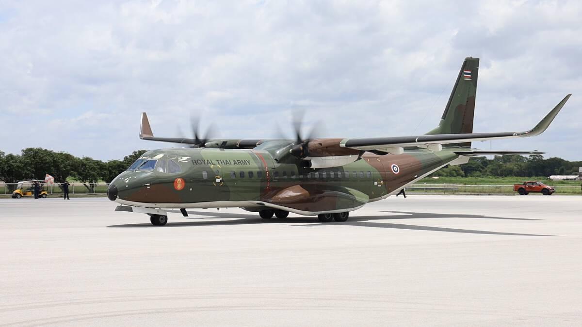 เครื่องบินลำเลียงกองทัพบกนำส่งผู้ป่วยโควิดกลับอุดร