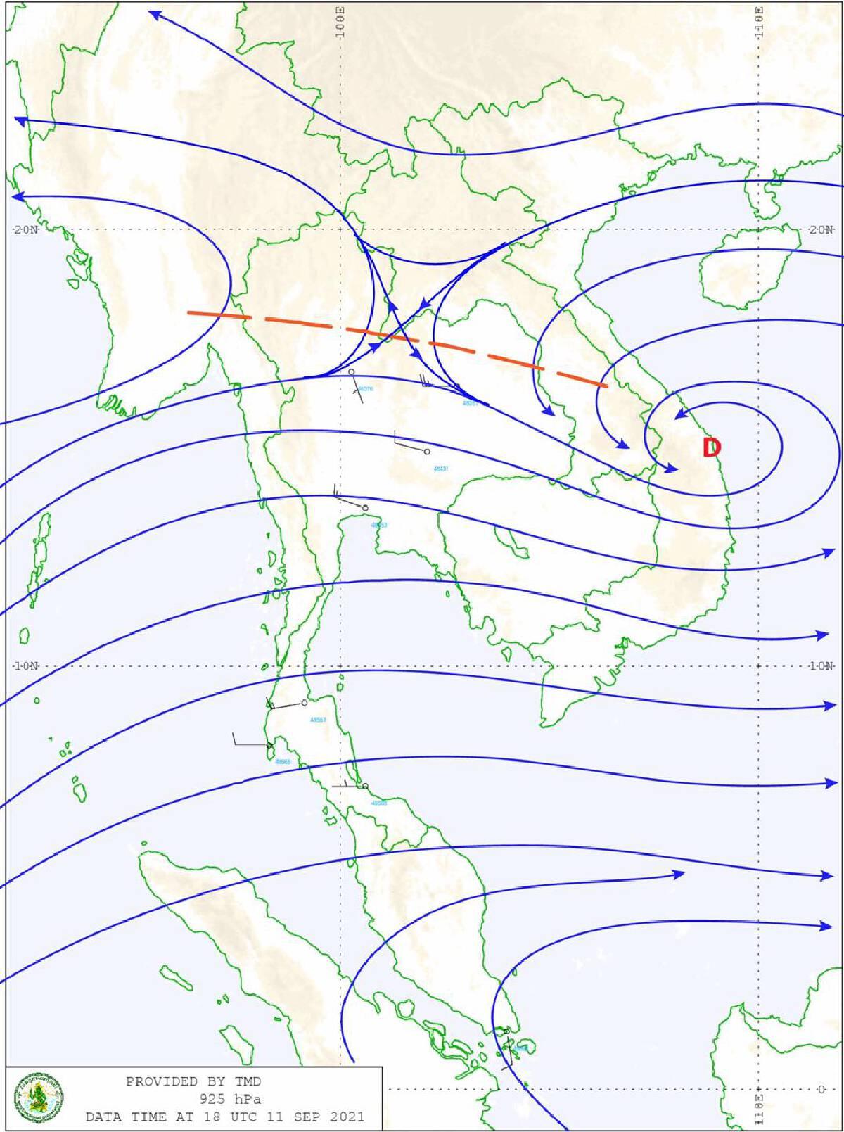 สถานการณ์ประจำวันนี้ (12 ก.ย. 64) พยากรณ์อากาศ 24 ชั่วโมงข้างหน้า