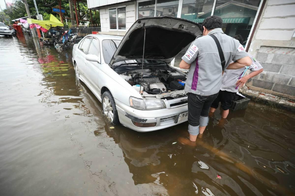 เปิดวิธีขับรถลุยน้ำท่วมและการดูแลหลังรถผ่านการลุยน้ำ