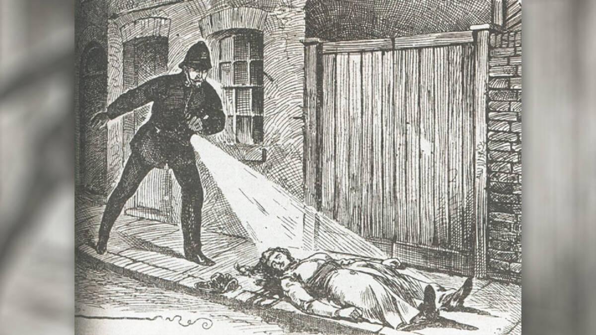 ภาพวาดการพบศพจากน้ำมือของแจ๊ค เดอะ ริปเปอร์