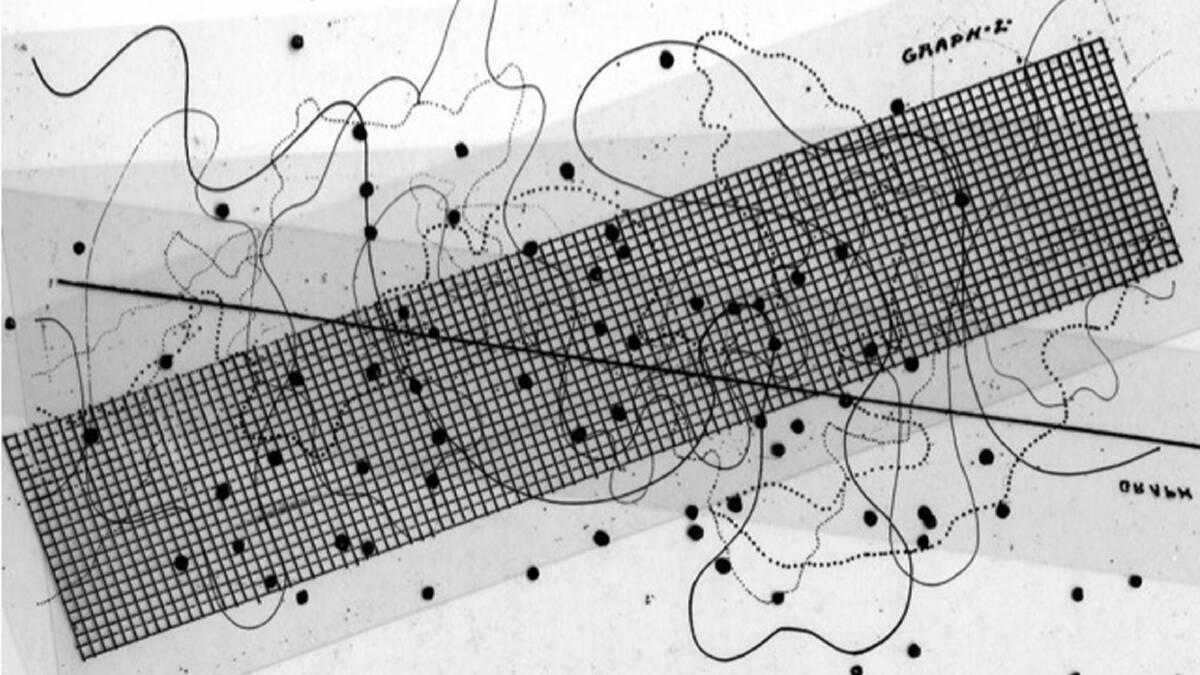 ตัวอย่าง Graphic Score เพลง Aria ของ John Cage