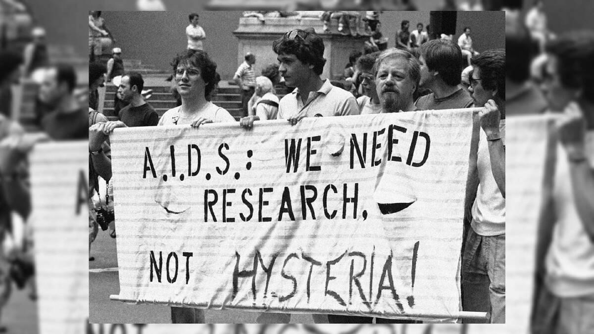 การรณรงค์เรื่องเอดส์ในปลายศตวรรษที่ 19 ซึ่งประชาชนยังไม่มีความรู้เรื่องเอดส์มากนักและเกิดความสับสนในสังคม