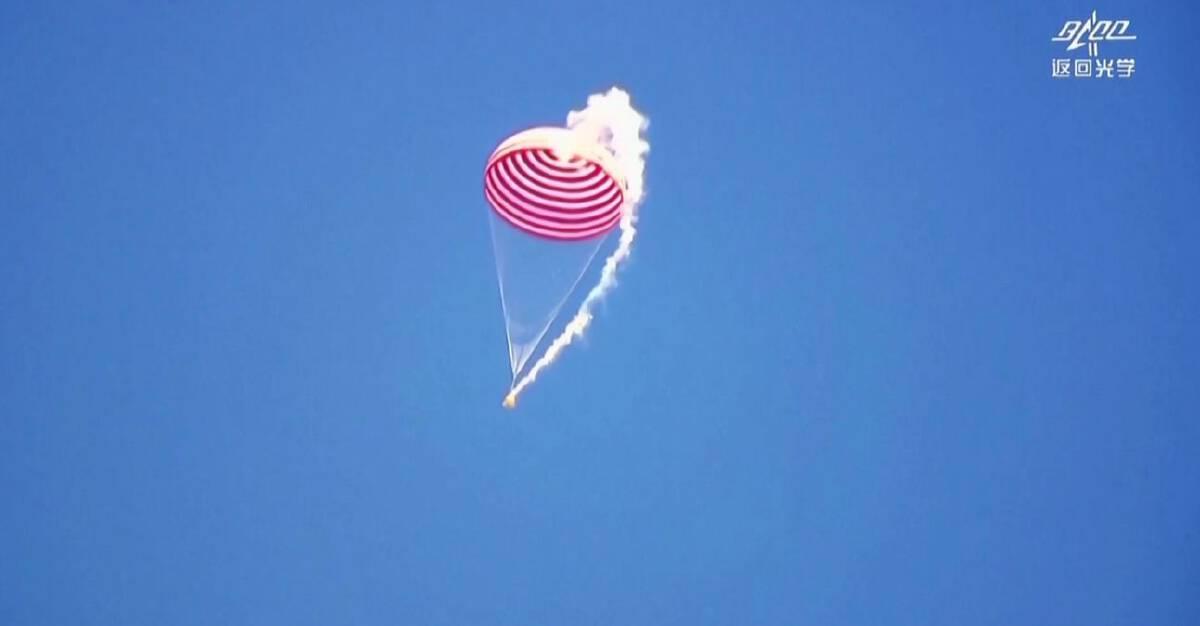 3 นักบินอวกาศจีนกลับถึงโลกหลังจบภารกิจ 90 วัน