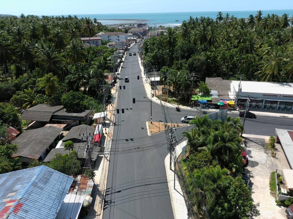 ทางหลวงขยายถนนรอบเกาะสมุยหนุนท่องเที่ยว คาดแล้วเสร็จ มี.ค.65