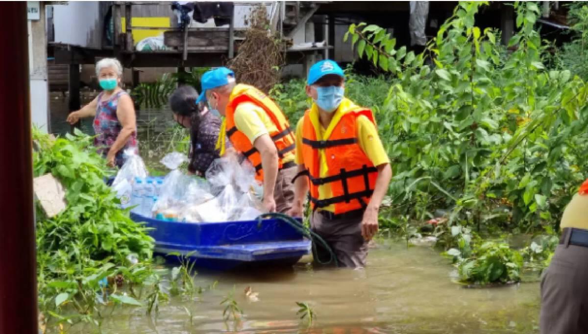 ผู้ประสบภัยน้ำท่วม