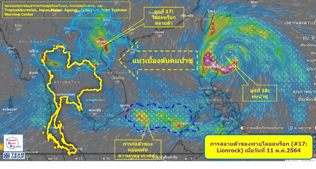 เวียดนาม-กัมพูชา คาดการผลกระทบพายุคมปาซุ