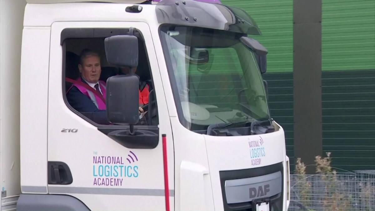 บิ๊กพรรคแรงงานอังกฤษตกทดสอบขับรถบรรทุก