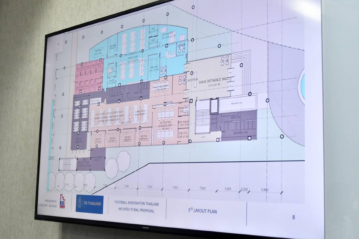 """เผยโฉมอาคารที่ทำการ """"ส.บอล"""" แห่งใหม่ ใช้งบจากฟีฟ่า"""