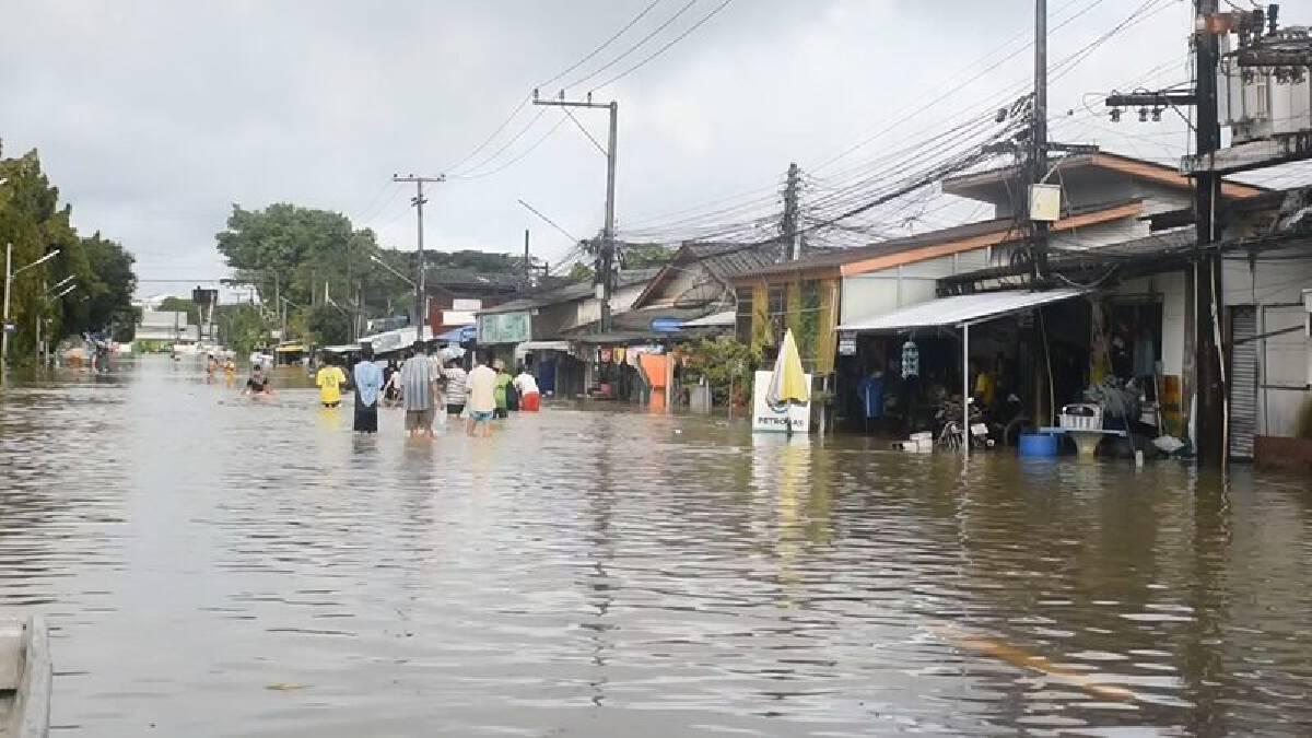 น้ำท่วมพื้นที่ จ.จันทบุรี